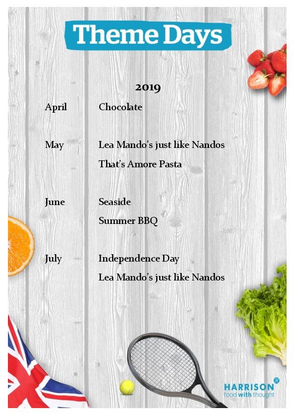 Theme Day Calendar April to July