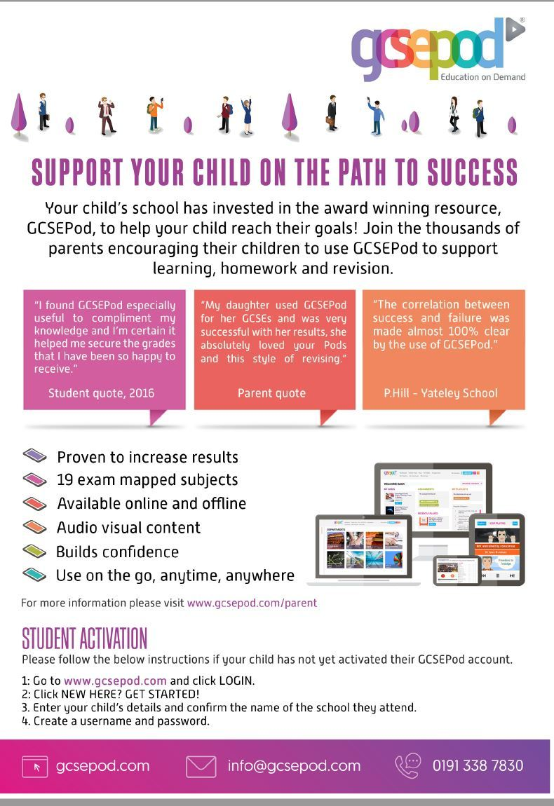Parent flyer gcse pod